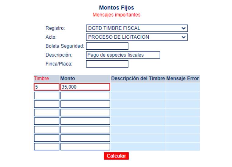 Proceso de pago de especies fiscales en la oficina virtual del BCR