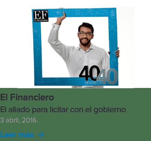 Noticia de Licitaciones Inteligentes en El Financiero