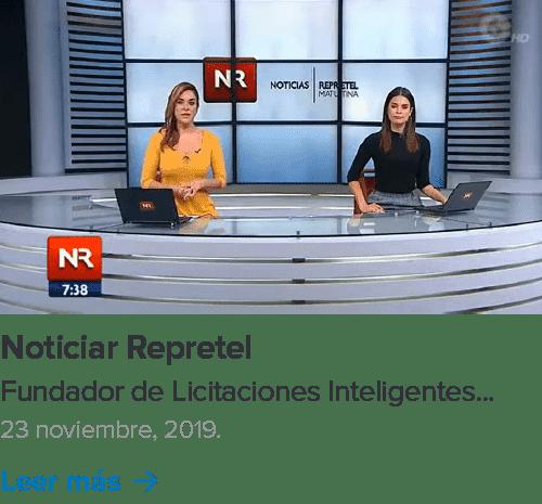 Noticia de Licitaciones Inteligentes en Noticias Repretel