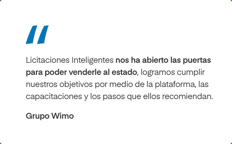 Testimonio de Grupo Wimo sobre Licitaciones Inteligentes