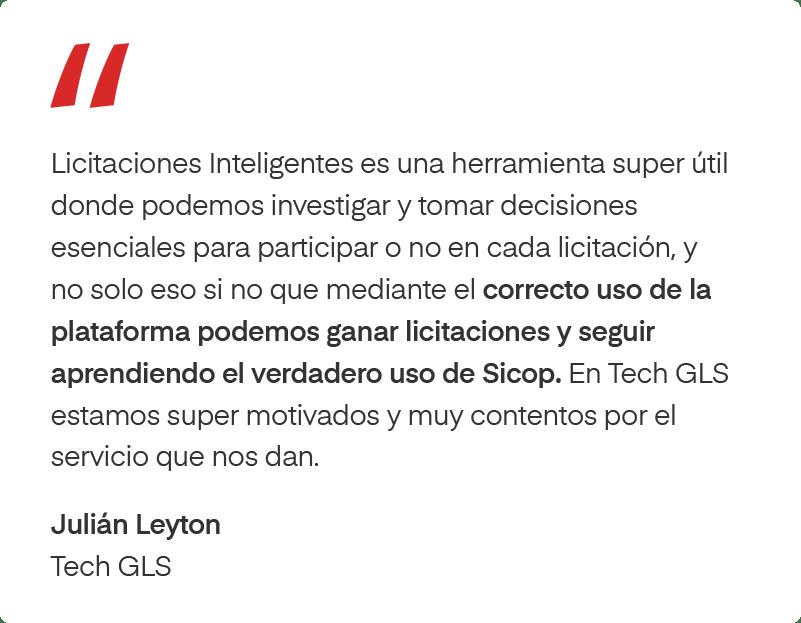 Testimonio de Tech GLS sobre Licitaciones Inteligentes